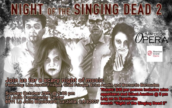 Night Of The Singing Dead 2 to Benefit San Diego Opera, Houston